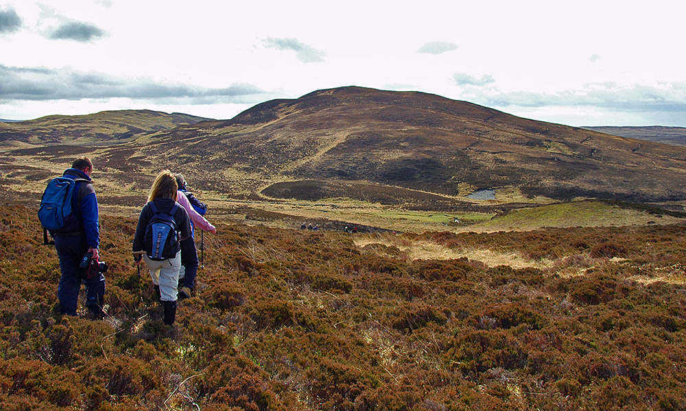 Walkers in the hills, Isle of Islay