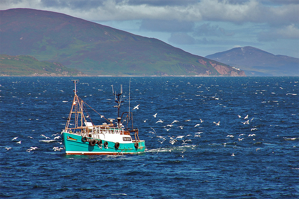 Fishing boat off the south-east of Islay