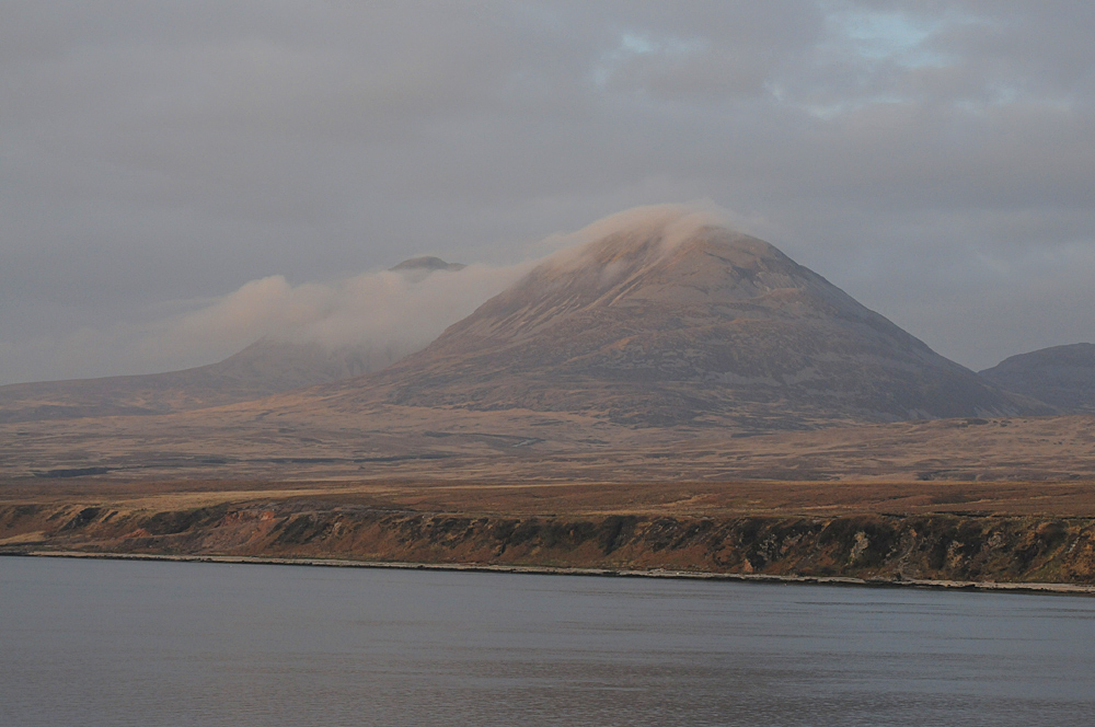 The Paps of Jura on an April evening seen from the Islay ferry