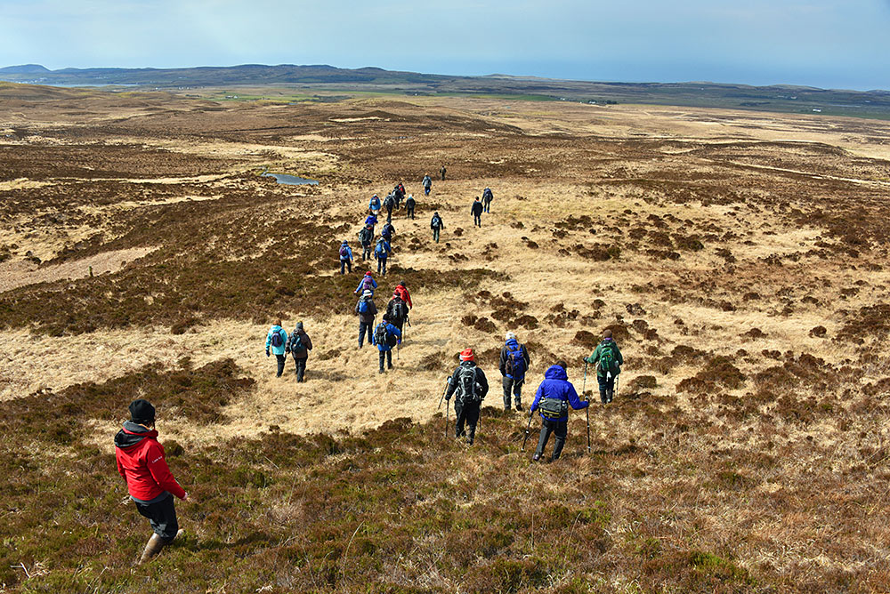 Walkers near An Carn, Isle of Islay