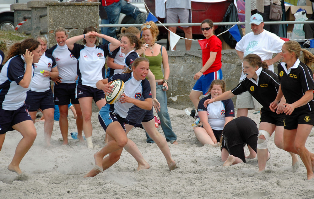 Picture of women's Islay beach rugby