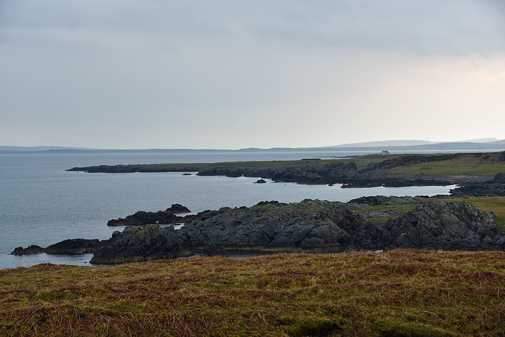 Picture of a view over a sea loch on an overcast day