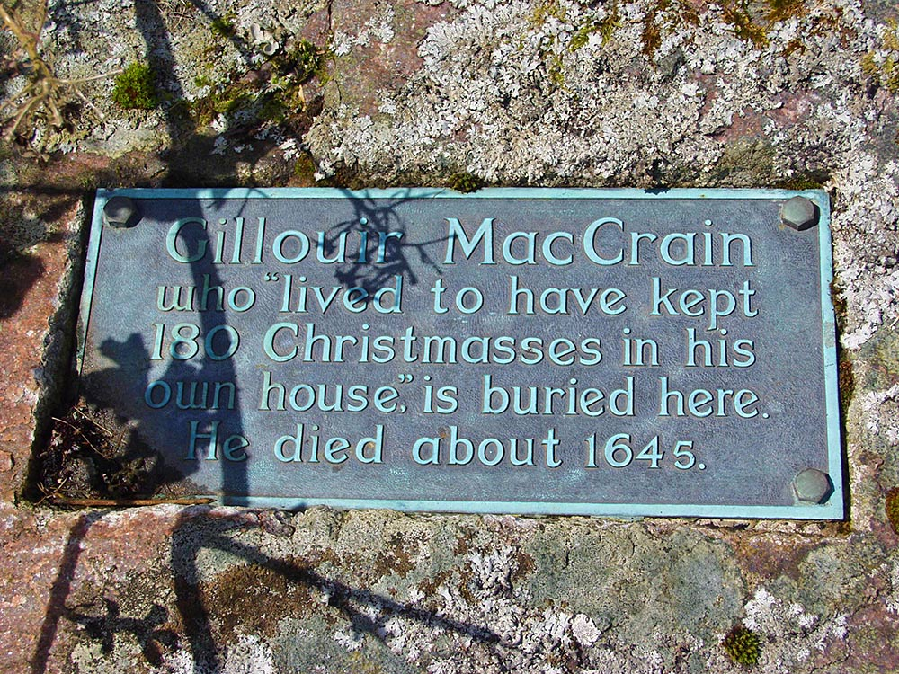 Picture of a plaque for Gillour MacCrain