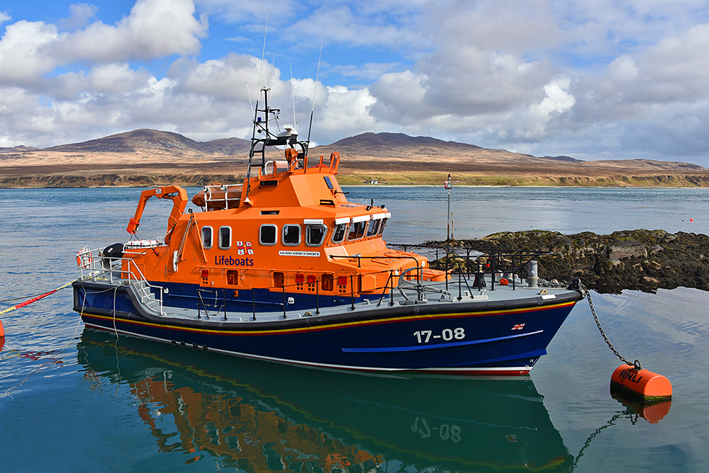 Picture of the Islay lifeboat, the Helmut Schroder of Dunlossit II