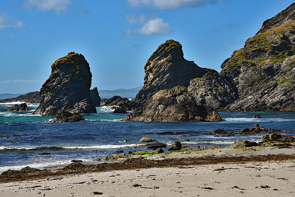 Picture of coastal rock formations on a sunny day