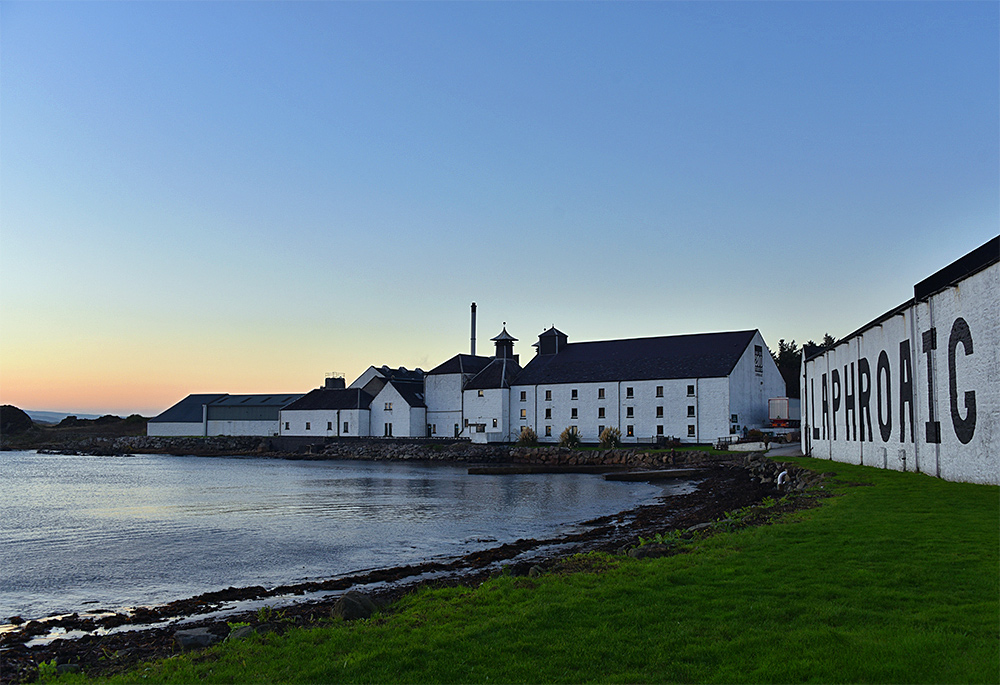 Picture of Laphroaig distillery on Islay in some mild November afternoon light