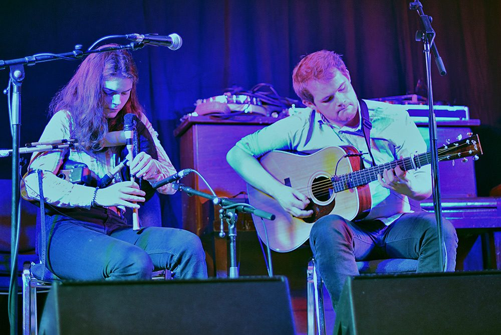Picture of Brighde Chaimbeul performing at the Islay Sessions 2018 supported by Innes White