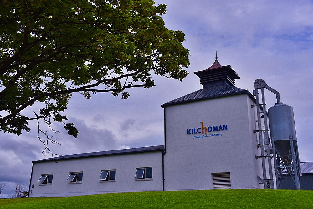Picture of the new kiln and malt floor at Kilchoman distillery, Isle of Islay, seen from below