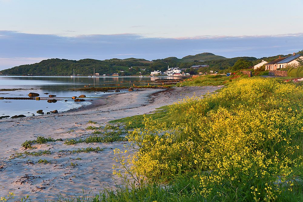 Picture of a coastal village in the early morning June sunshine