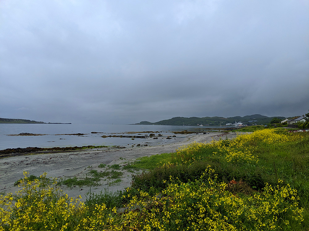 Picture of a coastal village on a rainy June morning