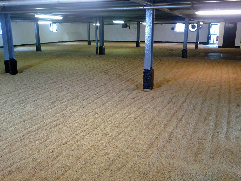 Picture of a whisky distillery malting floor