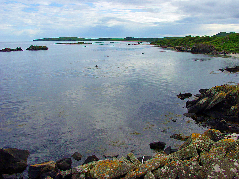 Picture of coastline with a mixture of rocks, beaches and shrubs
