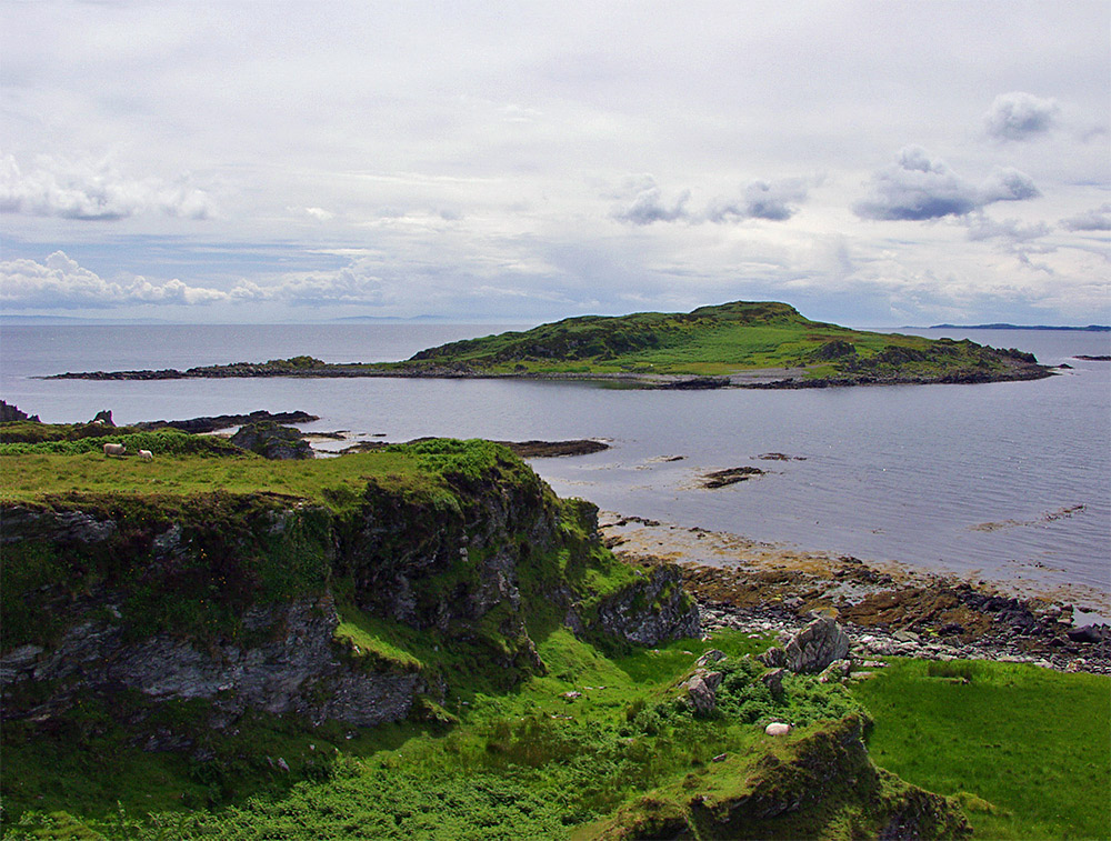 Picture of a small island off a much larger island